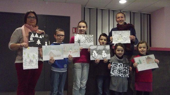 """17 janvier 2015 : Remise des prix du concours de dessins 2014 """"Hiver blanc"""""""