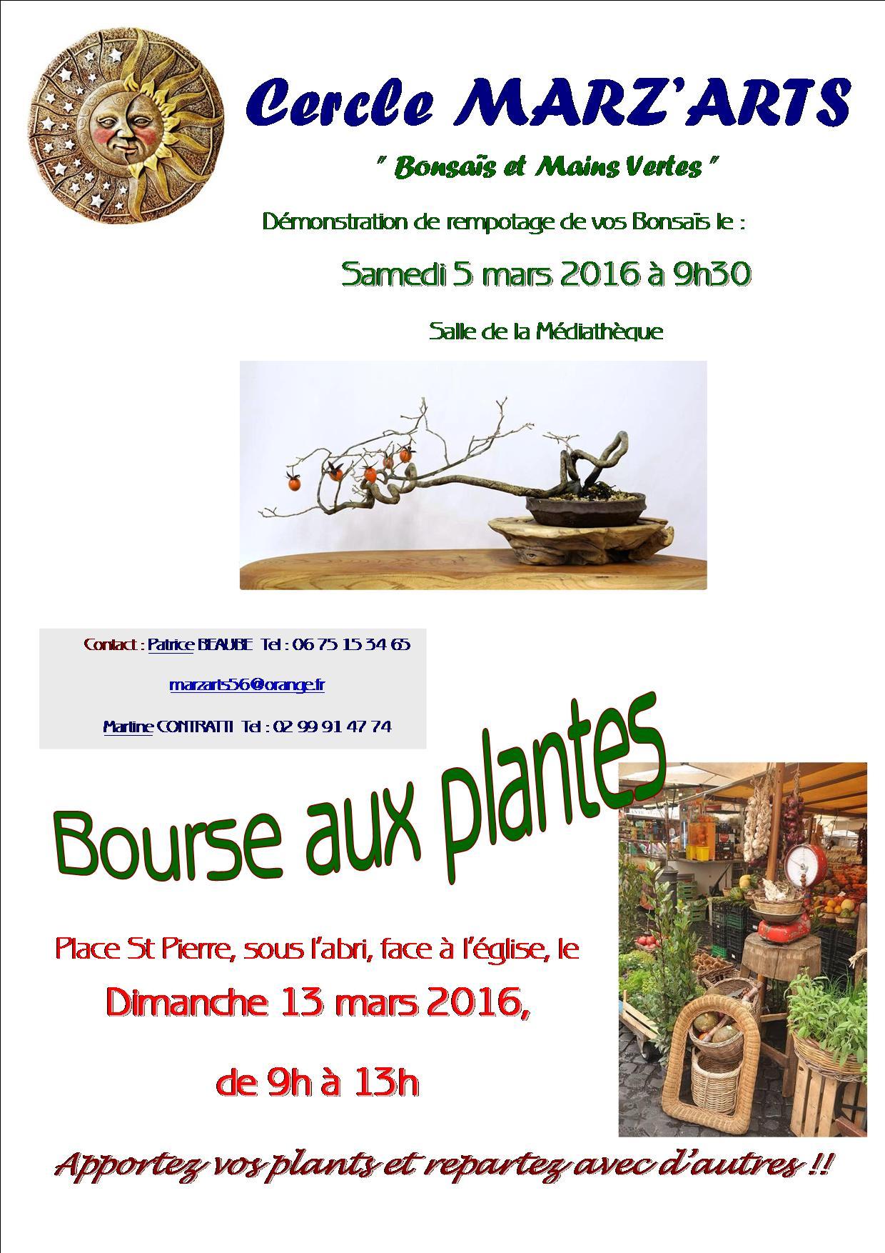 Affiche Bourse aux plantes 2016